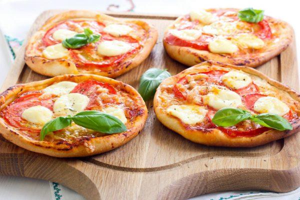 Deliciosas Pizzetas Margarita